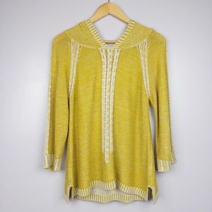 Far Away from Close Yellow/Green Plaited Sweater